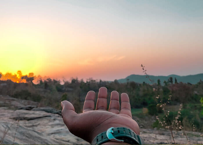 Ajodhya Hills Sunset view